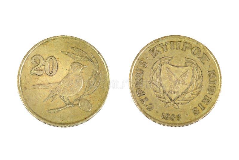 Cypern 20 cents royaltyfria foton