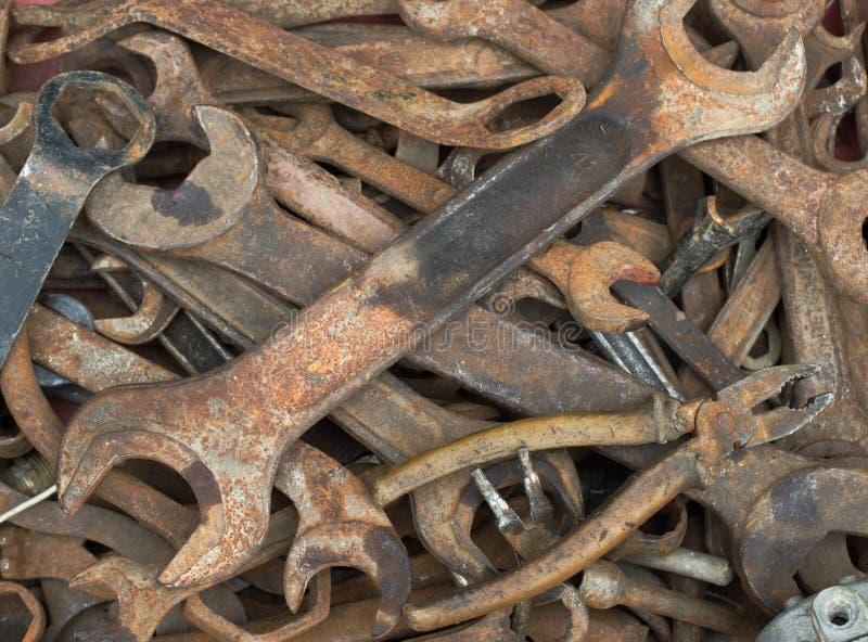 gammala skiftnycklar arkivbild