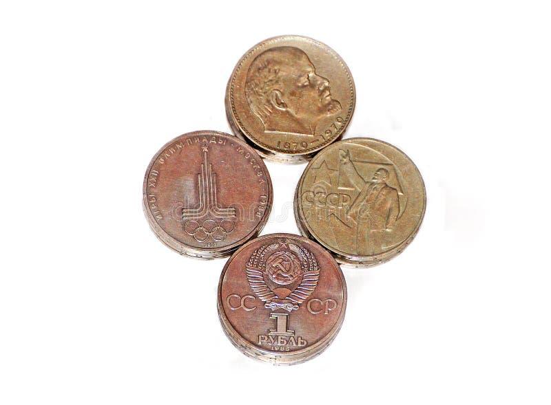 Download Gammala sovjetiska pengar. arkivfoto. Bild av metall - 27276384