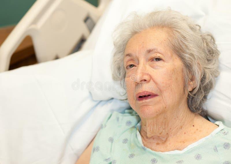 gammalare hög kvinna royaltyfria bilder