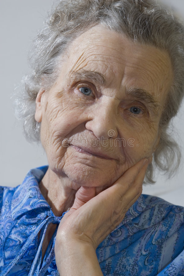 gammalare kvinna royaltyfri fotografi
