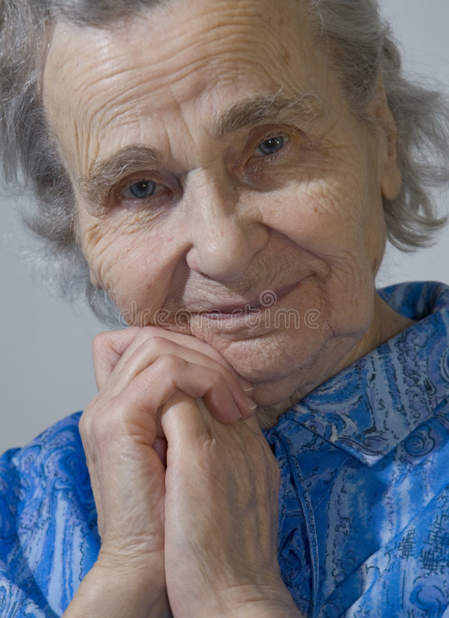 gammalare kvinna royaltyfri bild