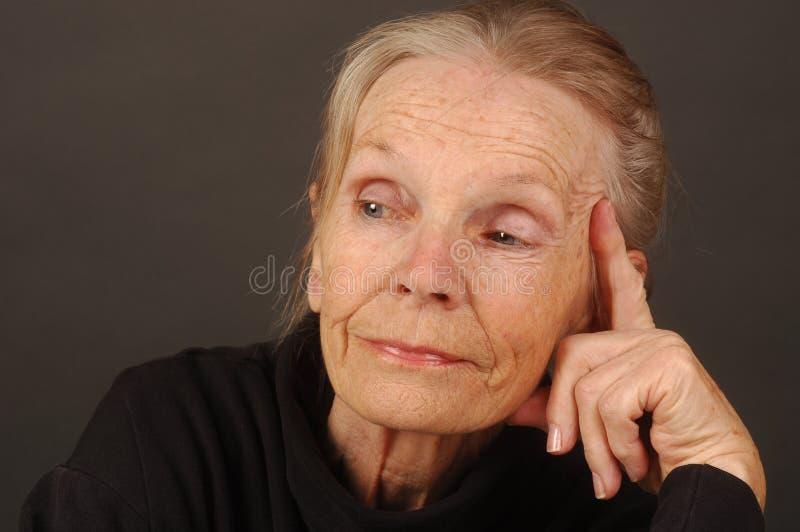 gammalare lady royaltyfri bild