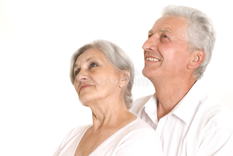 Gammalare par tillsammans arkivfoton