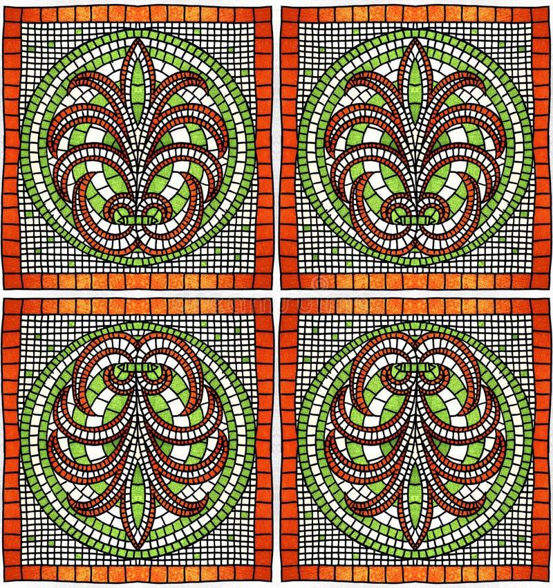 Gammalgrekiskaprydnad vektor illustrationer