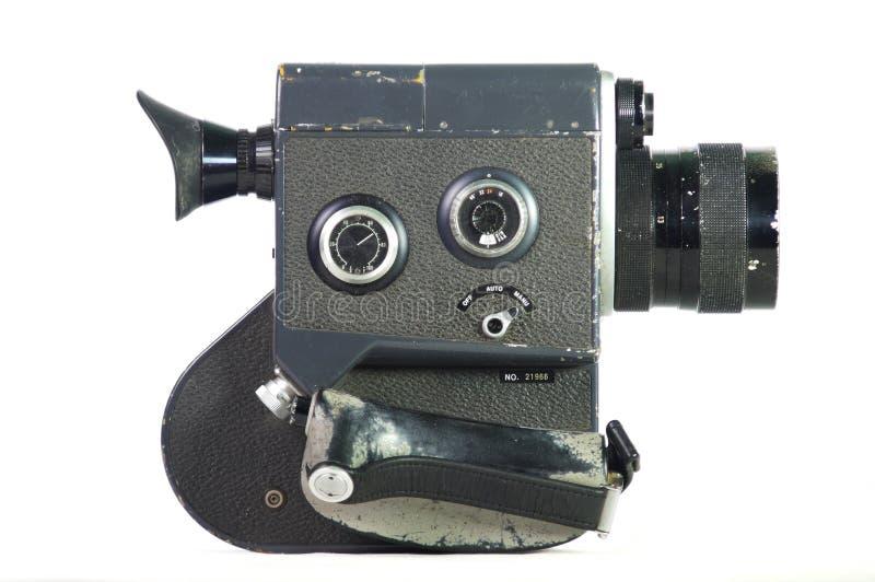 Gammalmodig ruffig filmkamera royaltyfri bild