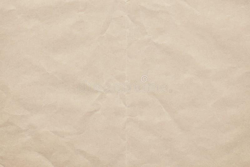 Gammalt återanvänd av vitbok skrynklig Grungetextur royaltyfri foto