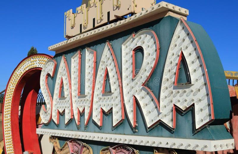 Gammalt övergett neonkasinotecken, Las Vegas royaltyfri bild