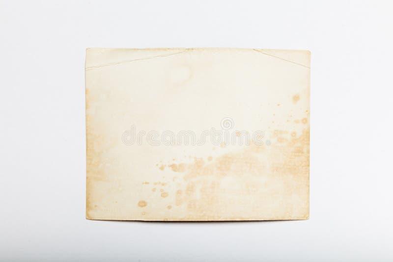 Gammalt albumfoto, bildbakgrund, tappningrambunt Kopieringsutrymme f?r utrymme arkivfoton