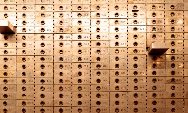 Gammalt bankvalv i det nya Yorker hotellet, Manhattan arkivbild