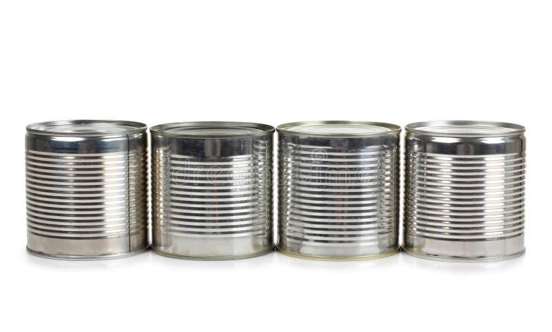 Gammalt belägga med metall tins royaltyfri bild