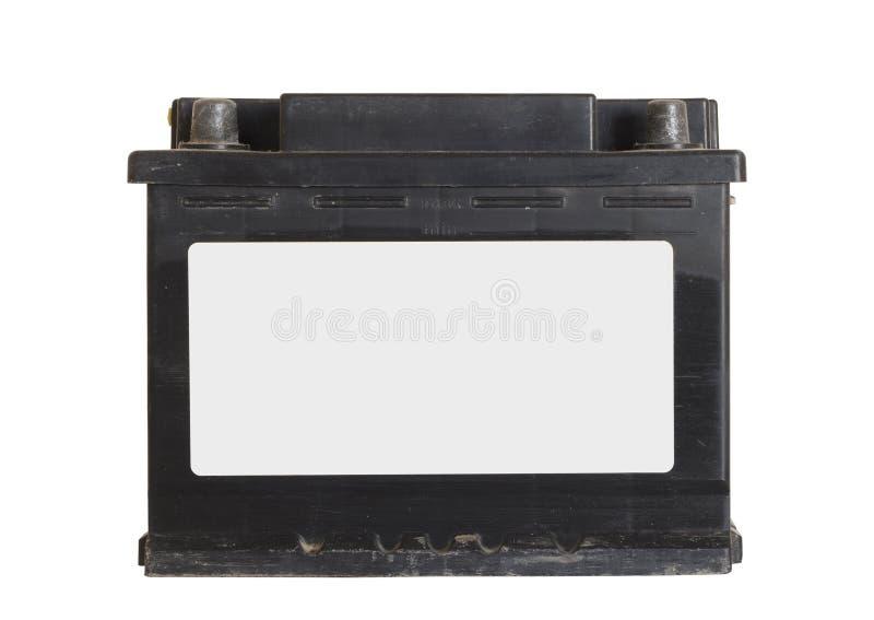 Gammalt bilbatteri arkivfoton