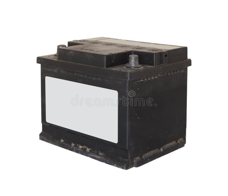 Gammalt bilbatteri royaltyfria foton