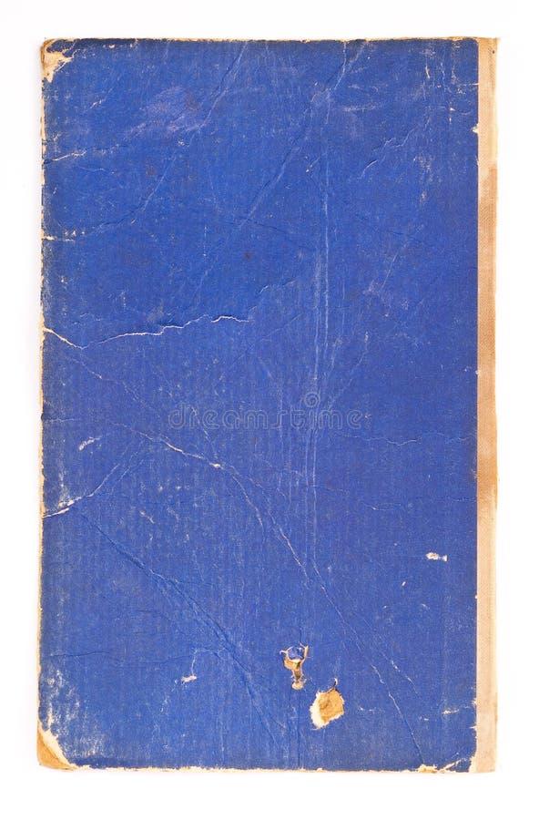 gammalt blått bokomslag royaltyfria foton