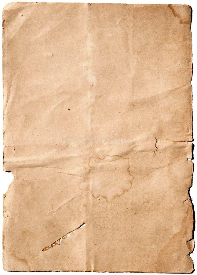 Gammalt blankt papper royaltyfri fotografi