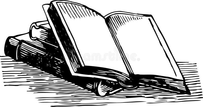 Gammalt bokar stock illustrationer