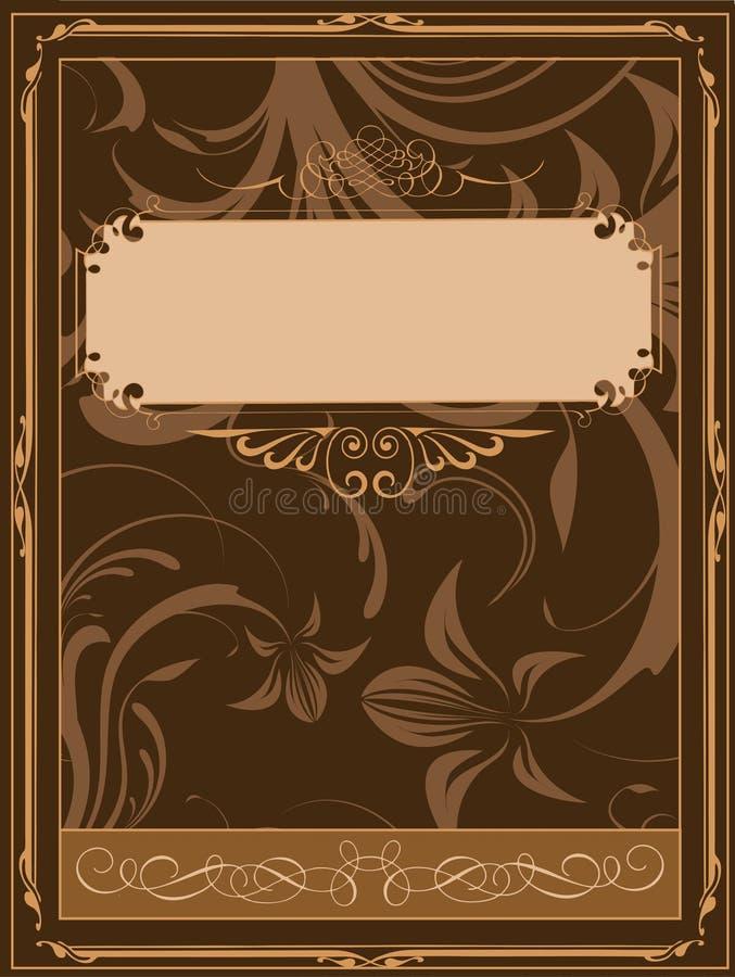 gammalt bokomslag stock illustrationer