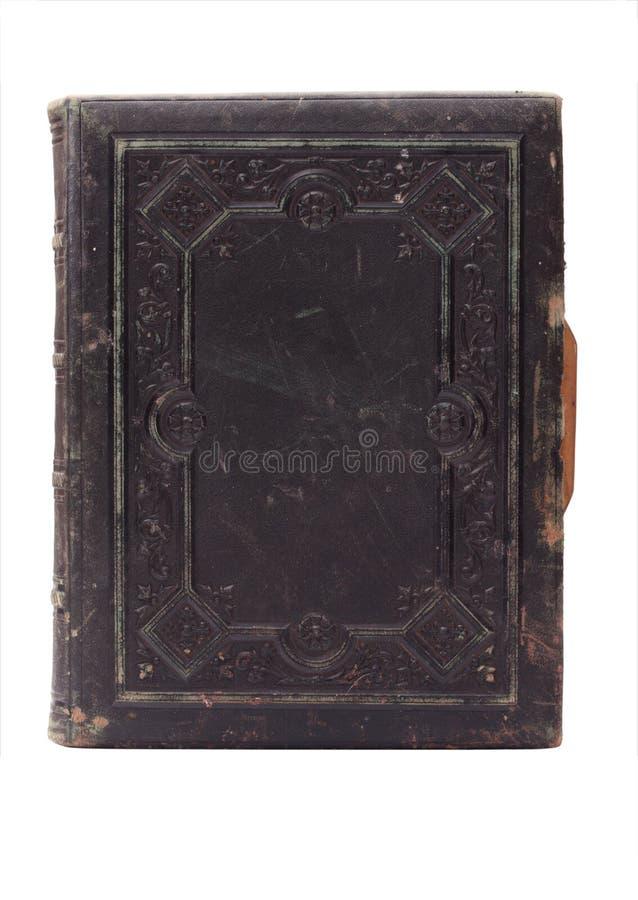 gammalt bokomslagläder royaltyfria bilder