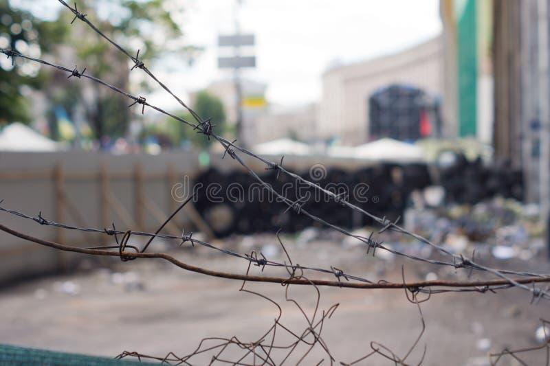 Gammalt brutet diamantingreppsstaket fotografering för bildbyråer