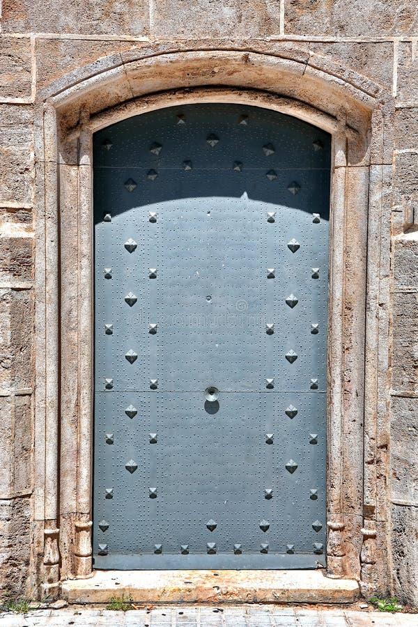gammalt dörrjärn royaltyfri bild