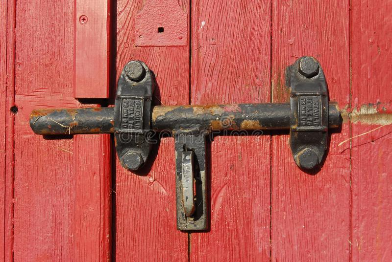 gammalt dörrlås royaltyfri bild