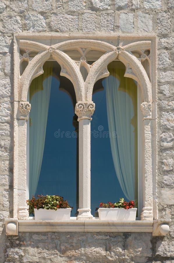 Gammalt dalmatian fönster royaltyfria foton