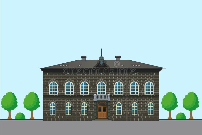 gammalt engelskt hus Vektorarkitekturillustration historia Gamla husplan houses försäljning vektor illustrationer