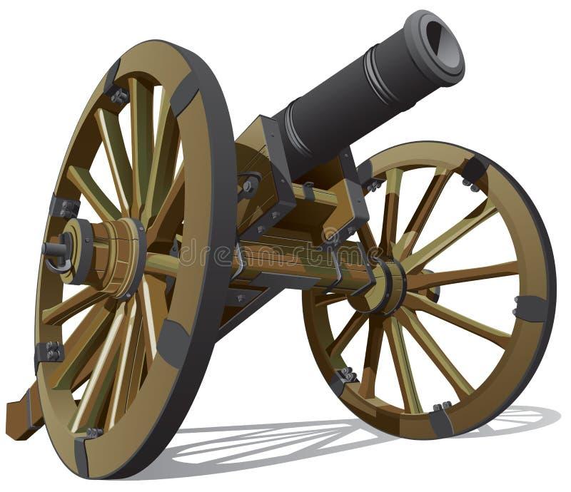 Gammalt fältvapen royaltyfri illustrationer