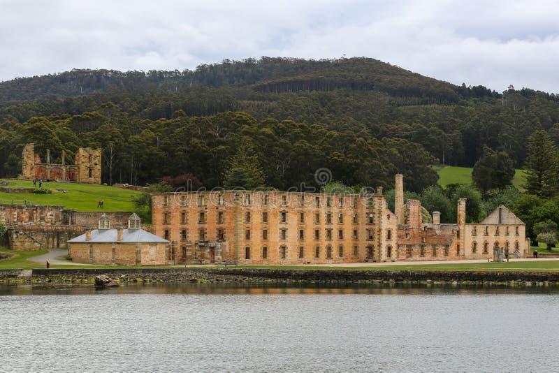 Gammalt fängelse på Port Arthur, Tasmanien, Australien arkivbild
