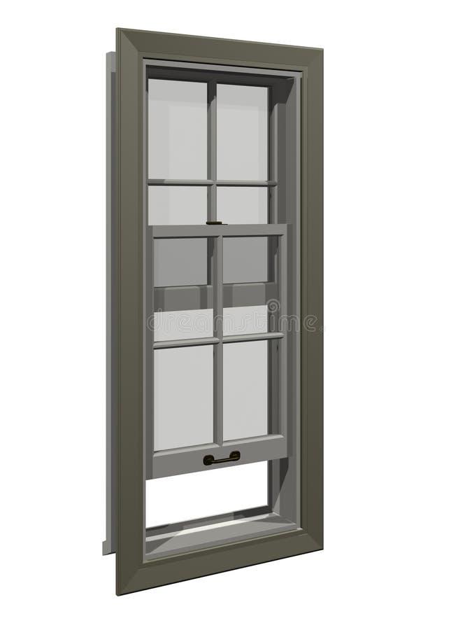 gammalt fönster vektor illustrationer