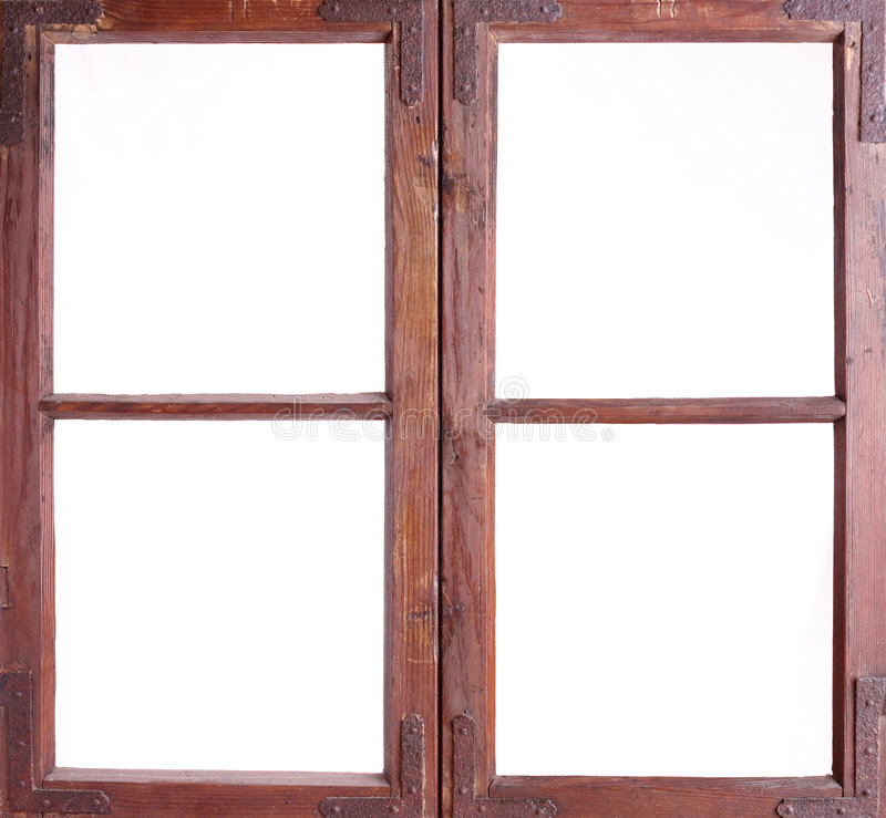 gammalt fönster för ram arkivfoto