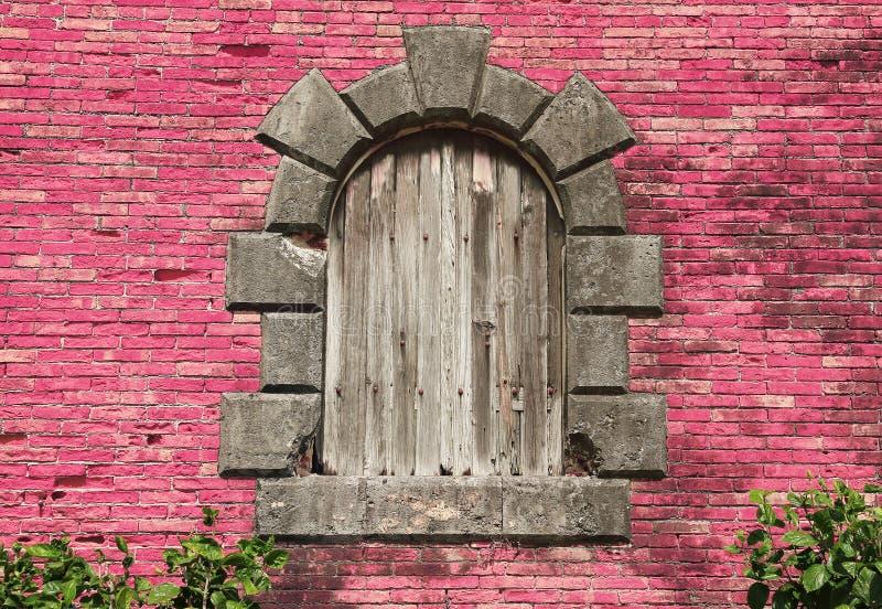 gammalt fönster föreställ retro stil Marie Galante Island Guadeloupe, karibiska öar, Frankrike arkivbilder