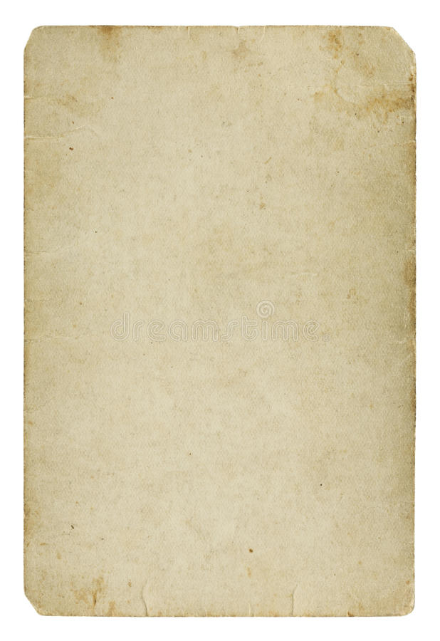 Gammalt förbigå det pappers- kortet arkivbild