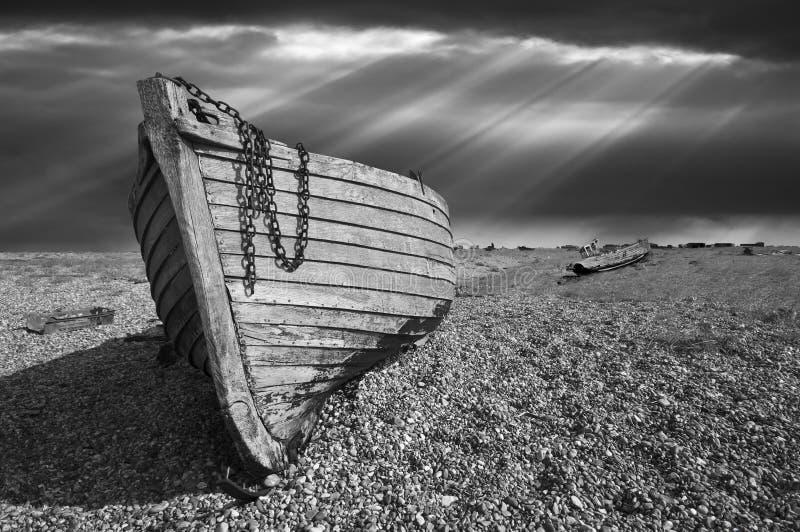 gammalt förfalla fiske för fartyg arkivfoton