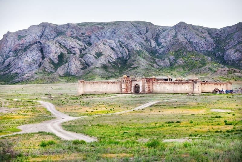 Gammalt fort i Kasakhstan royaltyfri foto