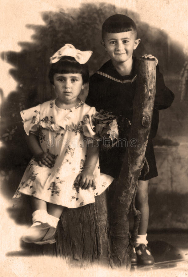 gammalt foto fotografering för bildbyråer