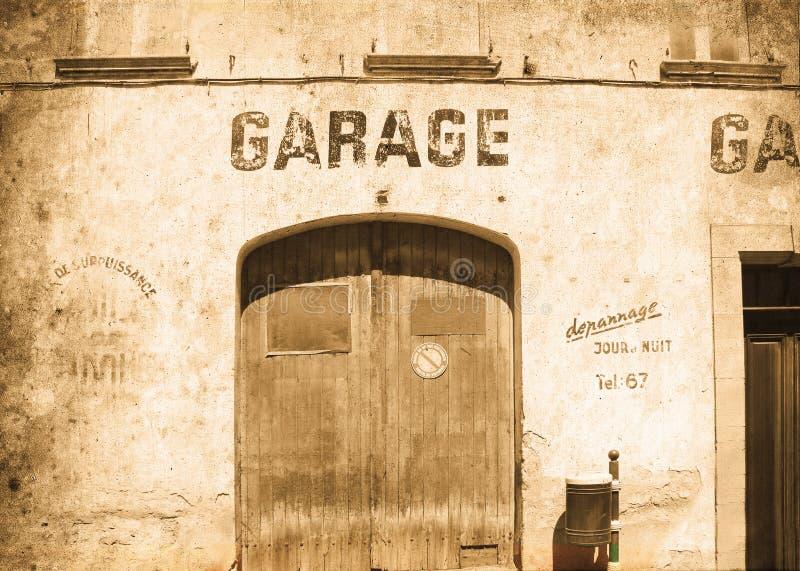 gammalt garage royaltyfri fotografi
