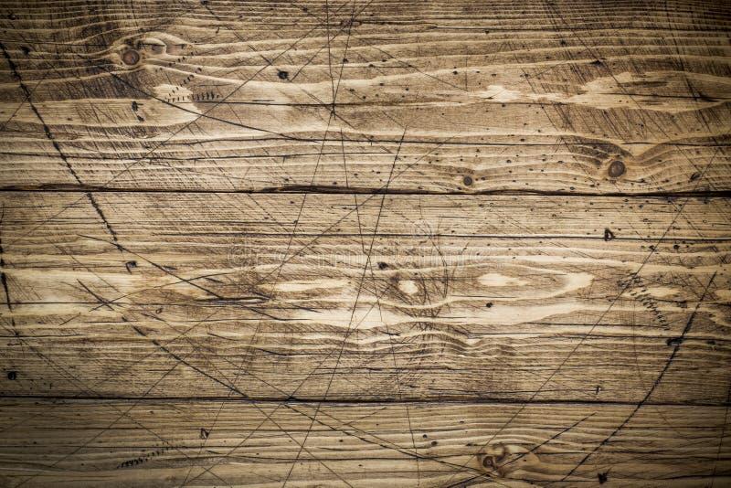 Gammalt grungemörker texturerade träbakgrund, yttersidan av den gamla bruna wood texturen royaltyfri fotografi