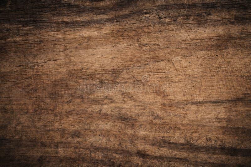 Gammalt grungemörker texturerade träbakgrund, yttersidan av den gamla bruna wood texturen, för bruntträ för bästa sikt panel arkivfoton