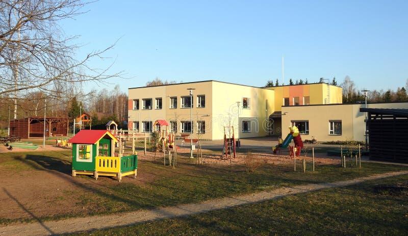 Gammalt härligt dagis i Sigulda, Lettland arkivfoton