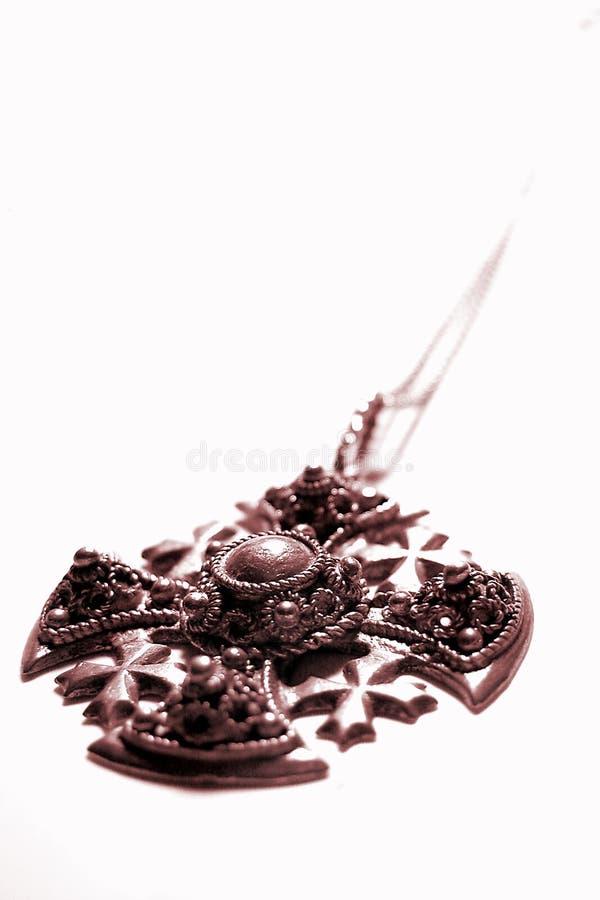 Download Gammalt halsband arkivfoto. Bild av silver, smycken, isolerat - 27412