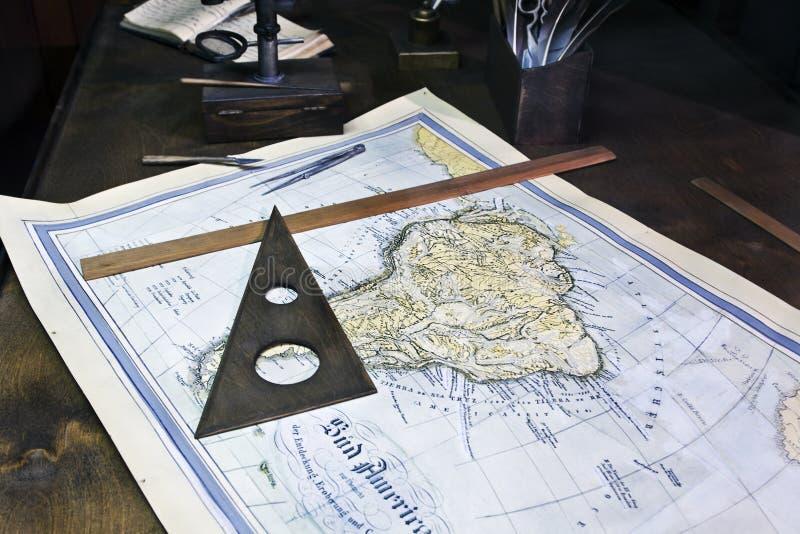 gammalt hav för diagram fotografering för bildbyråer