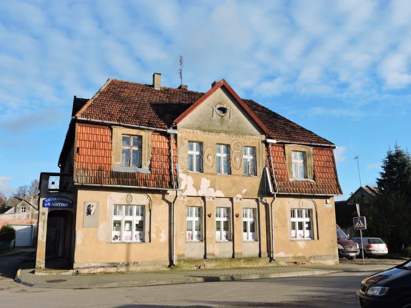 Gammalt hem, Litauen royaltyfria bilder