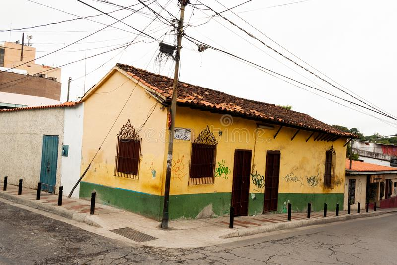 Gammalt hus El Hatillo Miranda State Caracas Venezuela royaltyfri bild