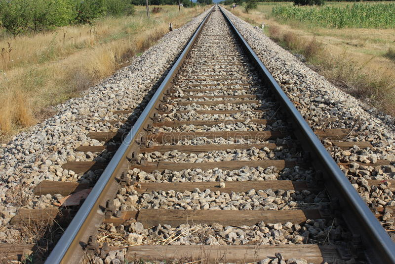 gammalt järnvägspår royaltyfri bild