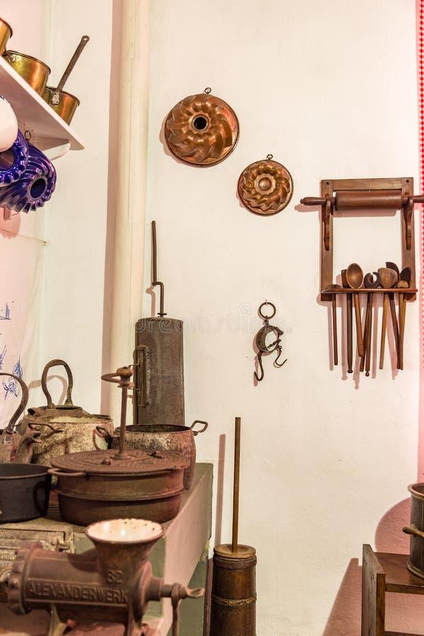 gammalt kök För koloniinvånare museum famlily royaltyfria foton