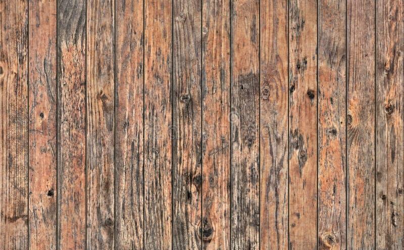 Gammalt knutit ridit ut lantligt sörjer textur för Grunge för träplank grov royaltyfria bilder