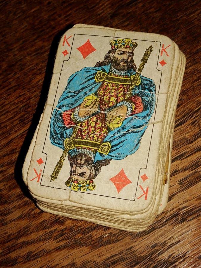 Gammalt kortdäck royaltyfria foton
