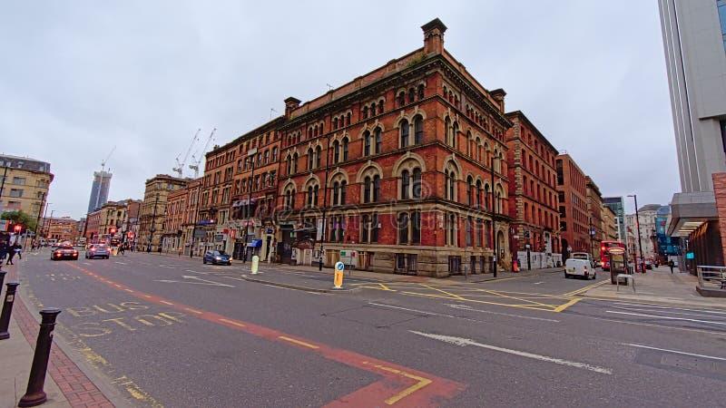 Gammalt lager i victorian stylel i staden av Manchester royaltyfria bilder