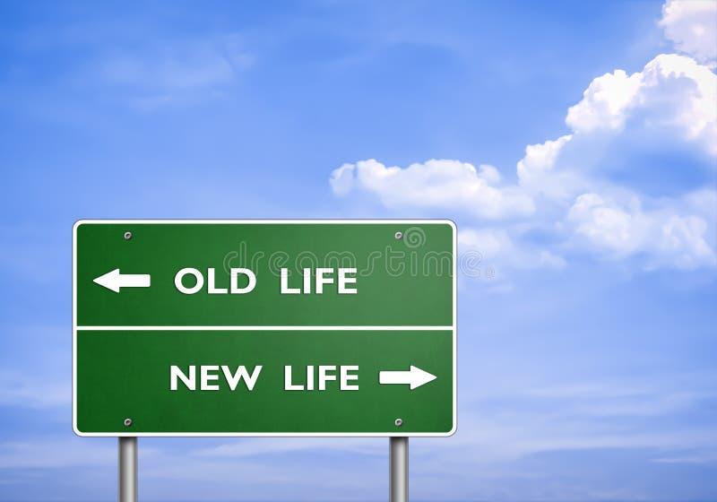 Gammalt liv - nytt liv vektor illustrationer